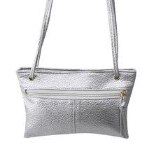 Fashion Korean Summer Lady Shoulder Messenger Bag Vintage Leather Solid Color Zipper Womens Clutch Popular