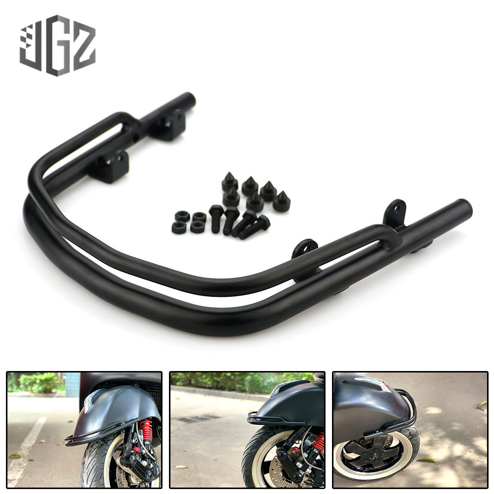 Motorcycle Aluminum Front Mudguard Protection Fender Bracket Bar Support Holder for VESPA GTS 200 <font><b>250</b></font> 300 <font><b>2013</b></font> - 2018 2019 2020 image