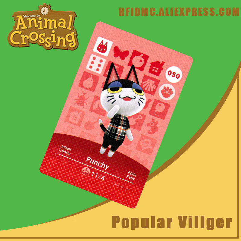 050  Punchy Animal Crossing Card Amiibo For New Horizons