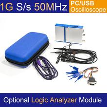 LOTO USB/PC Oscilloscope OSC2002, 1GS/s Sampling Rate, 50MHz Bandwidth, for automobile, hobbyist, student, engineers free shipping 6022be usb analog oscilloscope portable virtual oscilloscope pc oscilloscope kit bandwidth 20m sampling rate 48m