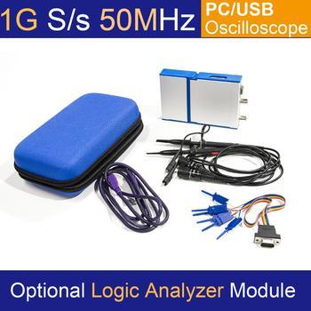 LOTO USB/PC Oscilloscope OSC2002, 1GS/s Sampling Rate, 50MHz Bandwidth, for automobile, hobbyist, student, engineers осциллограф dhl hantek mso5102d 100 1gs s 16 2