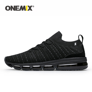 ONEMIX Men Running Shoes Jogging Footwear Knitted Summer Breathable Sneakers Walking Outdoor Sport Shoes Women Slip-On Sock Shoe 1