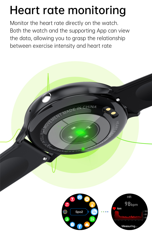 H7aeb9553c0954dcd845dc65489d6b095L LIGE New Smart Bluetooth Call Watch Men Women Heart Rate Sports fitness tracker Bracelet Watch Man for Android IOS Xiaomi Huawei