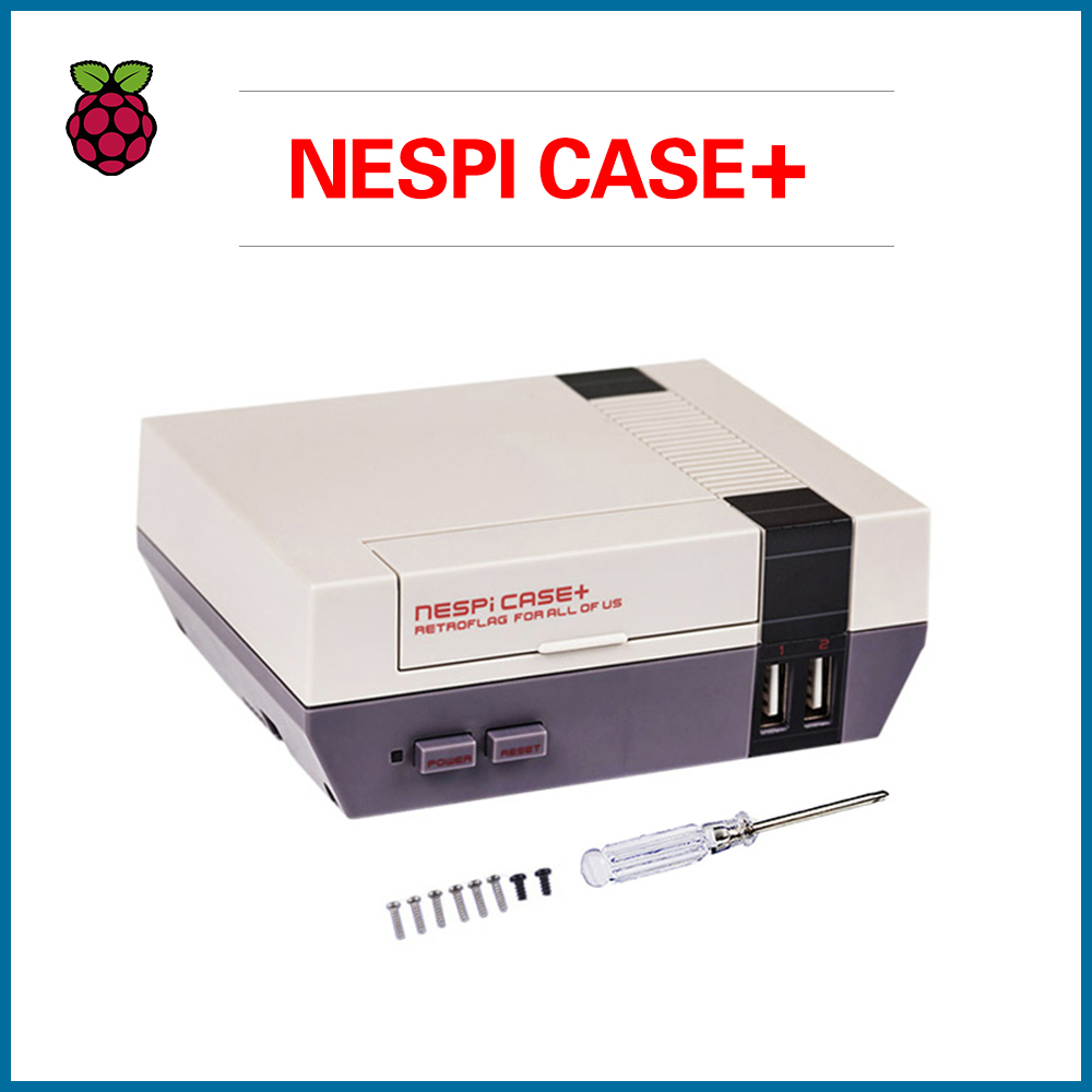S ROBOT NESPi CASE Plus + 32G SD Card + Game Pad + 3A Swith Power Supply For Raspberry Pi 3 Model B+ RPI132