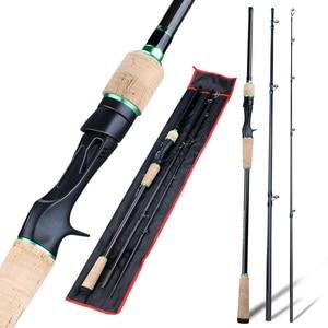Image 2 - Sougayilang novo 3 seções portátil vara de pesca 1.8 2.4m carbono ultraleve fiação/fundição vara de pesca eva lidar com enfrentar