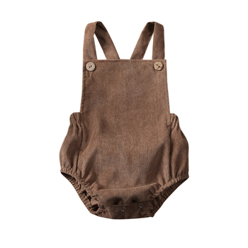 Corduroy Backless Bodysuit khaki