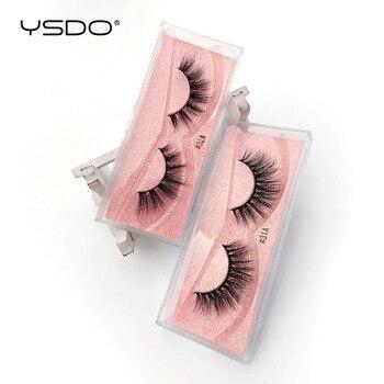 YSDO 1 Pair 3D Mink Eyelashes Fluffy Dramatic Eyelashes Makeup Wispy Mink Lashes Natural Long False Eyelashes Thick Fake Lashes 4