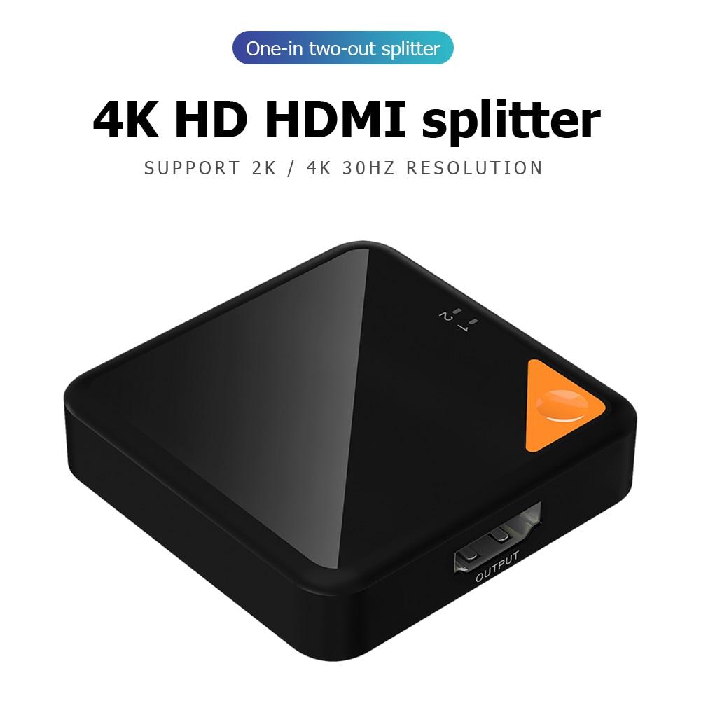 1x2/2x1 Adapter Converter Switcher HDMI 4K Splitter Bi-Direction Portable School Office Working Accessories For HDTV DVD