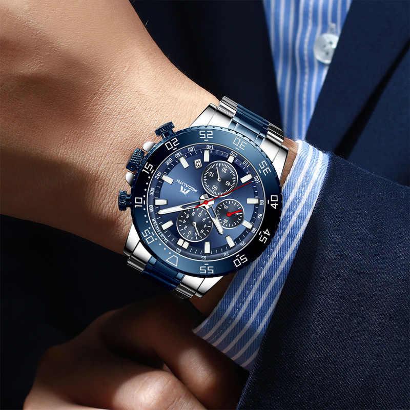 MEGALITH montres hommes étanche analogique horloge mode acier inoxydable étanche lumineux montre hommes sport Relogio Masculino