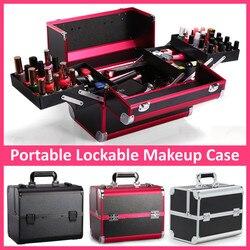 Draagbare Professionele Cosmetische Tas Koffers Voor Cosmetica Grote Capaciteit Vrouwen Travel Make Zakken Doos Manicure Kosmetiek Case