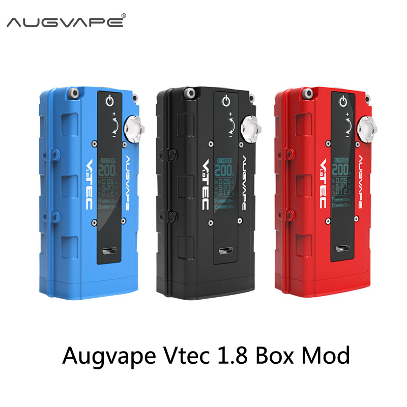 Augvape Vtec 1.8 Box Mod 200W Vape Box Mod By Dual 18650 Battery 4 Work Modes Vape With OLED Screen Electronic Cigarette