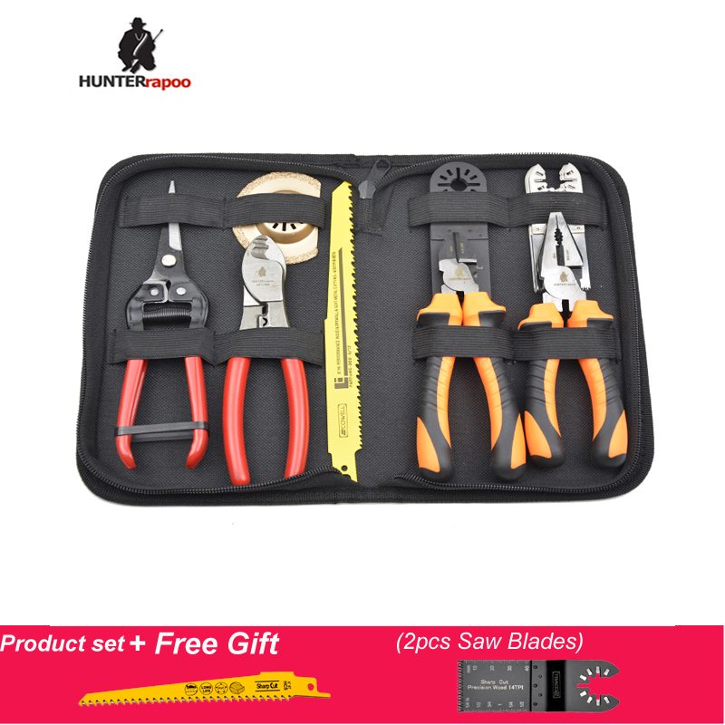 50% VÄLJAS 13PCS Tööriistade komplekt koos näpuga diagonaal-tang kolbsaega tera võnkuva mitme tööriistaga saelehe kaabellõikur