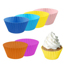 NEW Round Shaped Silicone Muffin Cupcake Molds Liner Baking Bakeware Cup Case Party Tray DIY Cake Decorating Tools(China)