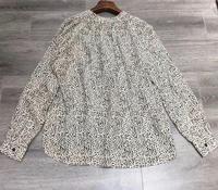 100% Viscose Women V Neck Leopard Print Blouse Ladies Elegant Long Sleeve Shirt Casual Top Female Clothes Shirts Tops