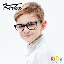 Kirka 광학 어린이 안경 프레임 아세테이트 안경 어린이 유연한 보호 어린이 유리 디옵터 안경 6 10 년