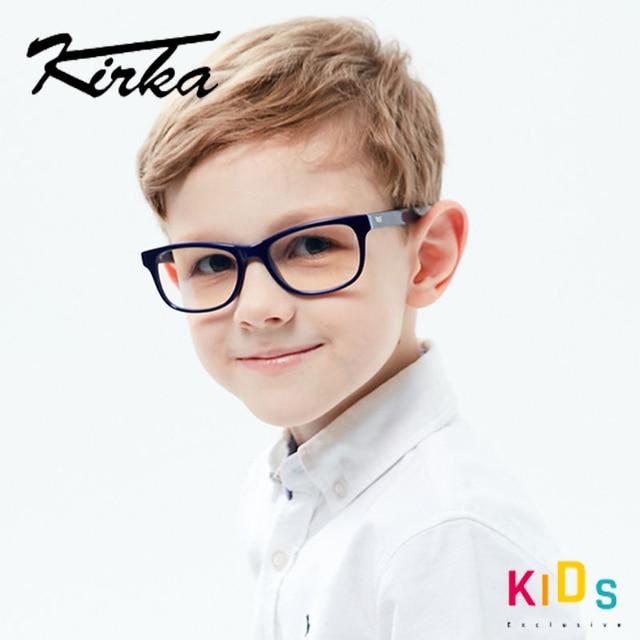 Kirka Optical Children Glasses Frame Acetate Glasses Children Flexible Protective Kids Glass Diopter Eyeglasses For 6 10 Years
