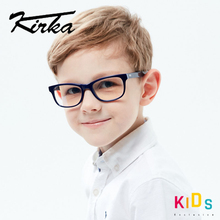 Kirka gafas ópticas con montura de acetato para niños, lentes de protección flexibles, dioptrías de vidrio para niños de 6 a 10 años