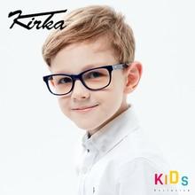 Kirka אופטי ילדי משקפיים מסגרת אצטט משקפיים ילדי גמיש מגן ילדים זכוכית Diopter משקפיים עבור 6 10 שנים