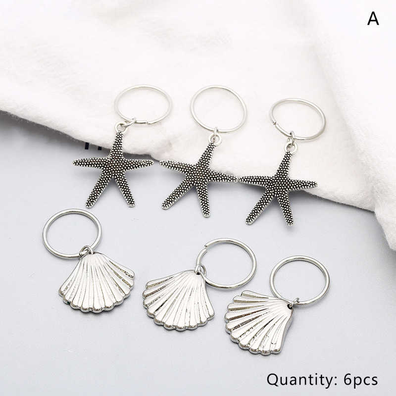 Vintage Braided Hair Ring Gold Silver Starfish Shell Hairpin Clips Jewelry Women Girls Hoop Circle Punk Party Hair Accessories