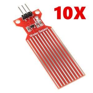 10 pces dc 3 v-5 v 20ma chuva sensor de nível de água módulo profundidade de detecção líquido superfície altura fluxo sensor para arduino
