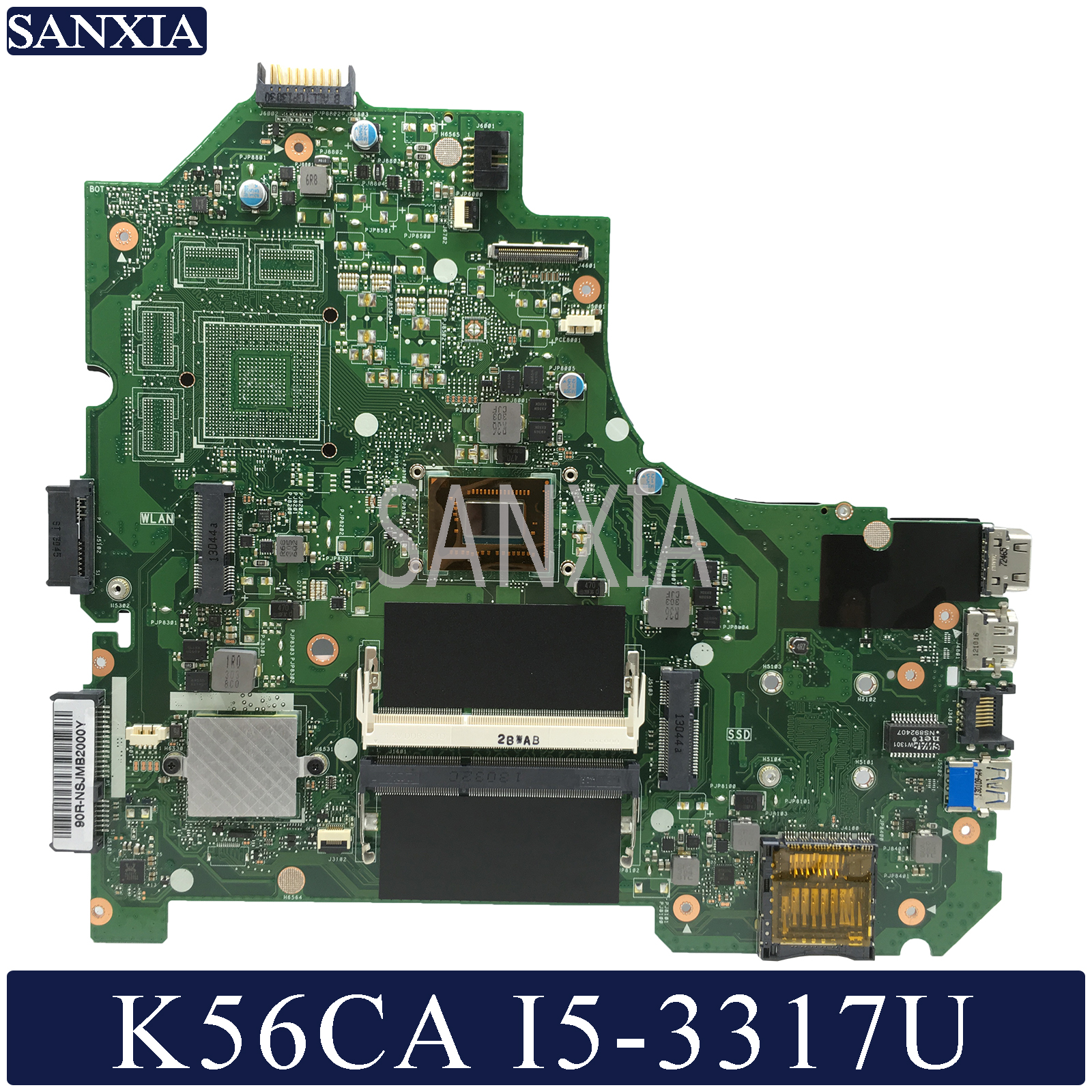 KEFU K56CM Laptop Motherboard For ASUS K56CA K56CB K56C S550CA Original Motherboard I5-3317U/3337U