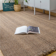 Retro Wool Living Room Carpet Hand Woven Boho Bedroom Carpet Tassel Anti-Slip Nordic Style Rug Polar Floor Mat Tatami Prayer Mat(China)