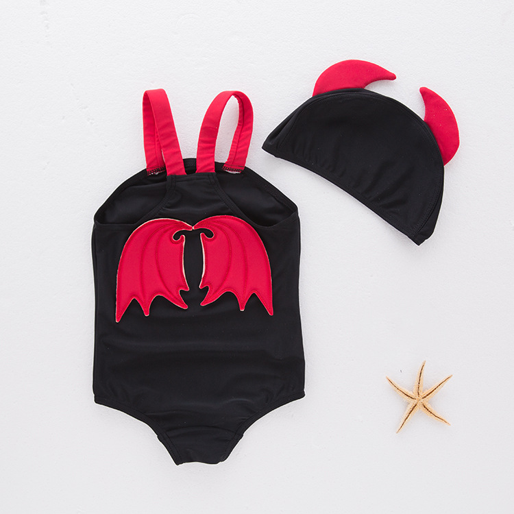 Boys' Cotton One-piece Swimsuit Demon-Children Hot Springs Clothing