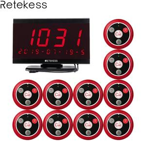 Image 1 - Retekess TD105 999CH хост приемник + 10 шт. T117 кнопка вызова ресторанный пейджер система вызова официанта служба поддержки клиентов Вызов медсестры