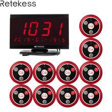 Retekess TD105 999CH 호스트 수신기 + 10pcs T117 호출 버튼 식당 호출기 웨이터 호출 시스템 고객 서비스 간호사 호출