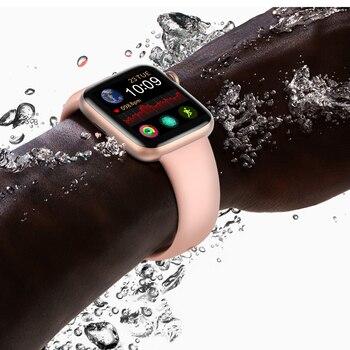 2020 New Iwo 16 Smart Bracelet Band 1:1 44MM Watch 5 W75M W75 Oxygen ECG Blood Pressure Heart Rate Monitor Passometer Smartwatch