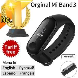 Image 1 - Nuevo Original Xiaomi mi Band 3 Smart Bracelet negro 0,78 pulgadas OLED mi band 3 muñequera Band3 mensaje instantáneo llamada Fitness Tracker