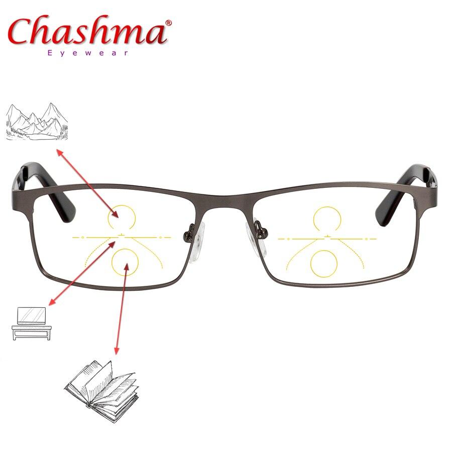 Titanium Alloy Progressive Multifocal Reading Glasses Men Presbyopia Hyperopia Bifocal Glasses