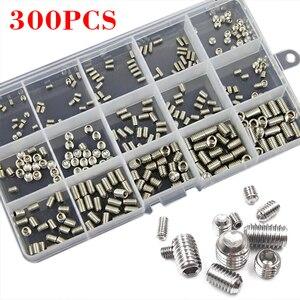 300 шт. 304 резьбовые винты из нержавеющей стали с шестигранной головкой, ассортимент винтов, набор для ремонта оружия
