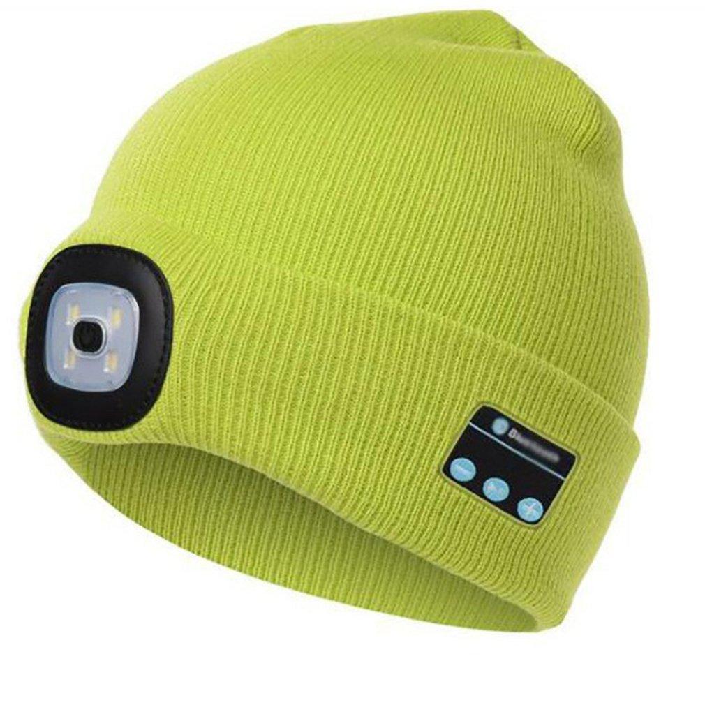 Winter Beanie Hat Wireless Smart Cap Headphone Headset with LED Light Handfree Music Headphone Earphones for Gift