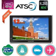 LEADSTAR 12 дюймов Atsc T Портативный мини ТВ поддерживает ATSC/H265/Hevc Dolby Ac3 1280*800 TF карта для дома/автомобиля с автомобильным зарядным устройством