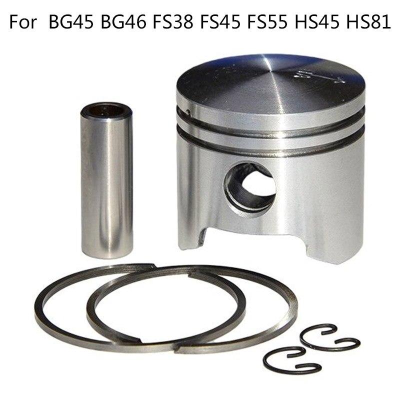 New 34mm Piston Kit For Stihl BG45 FS38 FS55 HS45 HS81 Trimmer Blowers Use