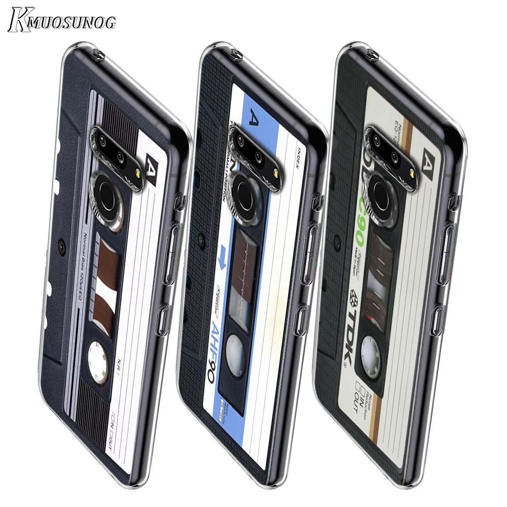 Vintage Magnetic Tape Cassette Style For LG W20 W10 V50S V50 V40 V30 K50S K40S K30 K20 Q60 Q8 Q7 Q6 G8 G7 G6 Thinq Phone Case