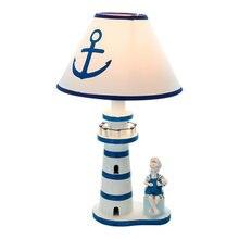 Настольная лампа в средиземноморском стиле Деревянный светильник