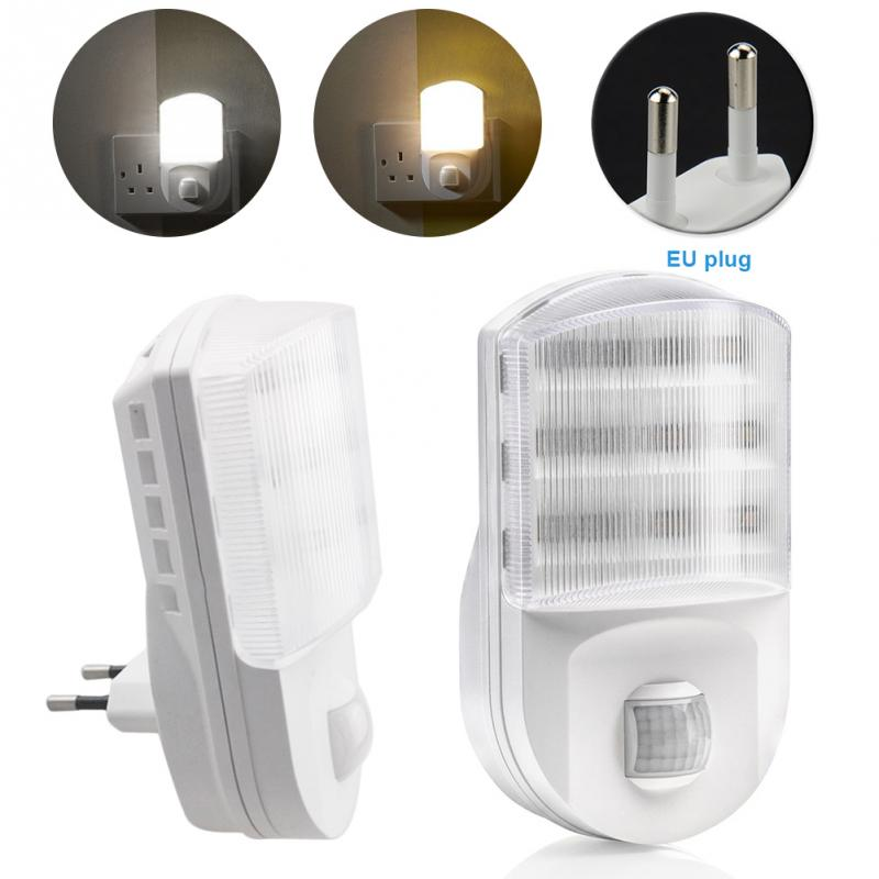 2 PACK Motion Sensor Night Light Potable 9 LED Closet Lights Plug Socket Power Supply Cabinet IR Infrared Motion Wall Lamp