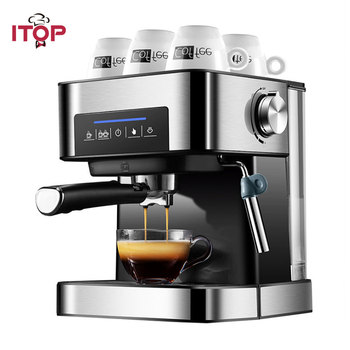 ITOP Electric 20Bar Italian Coffee Maker Household Americano Espresso Coffee Machine Fancy Milk Foam Maker 220V high quality 2cups foam machine pump pressure espresso electric coffee maker drip coffee machine office