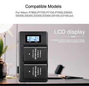Image 4 - Camera Battery Charger for Nikon en el14 P7100 P7000 D3100 D5200 D5100 D3200 D3300 D5300 P7000 P7800 MH 24 Lithium Battery MH24
