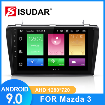 ISUDAR Car Radio For MAZDA 3 2004 2005 2006-2009 2 din Android 9 Autoradio Multimedia GPS DVR Camera RAM 2GB ROM 32GB USB Radio image