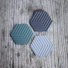 Silicone Coaster mold Handmade Molds for Concrete Pad Molds hexagon tray molds concrete maker