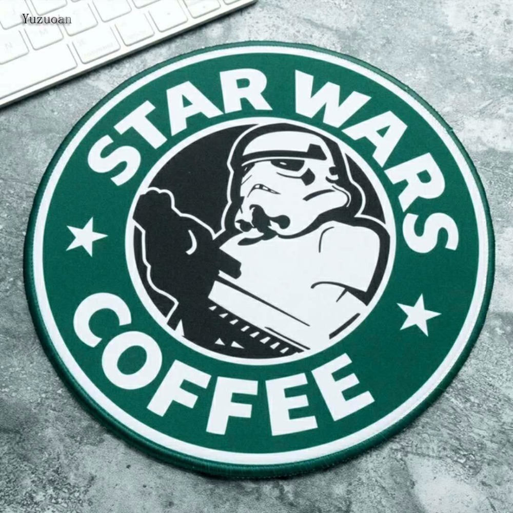 Image 3 - Yuzuoan Star Wars Gaming Mouse Pad Creative Movie Periphery Death Star Thickening Game Table Round Mat Size 22X22CM 20X20CM-in Mouse Pads from Computer & Office
