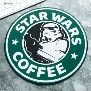 Image 2 - Yuzuoan Star Wars Gaming Mouse Pad Creative Movie Periphery Death Star Thickening Game Table Round Mat Size 22X22CM 20X20CM