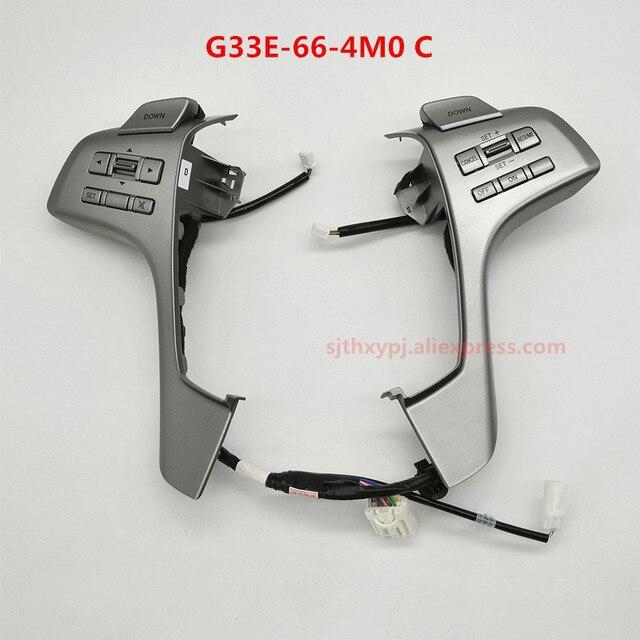 ل مازدا 6 GH مازدا 6 عجلة القيادة التحكم زر التحول اختيار مثبت السرعة الصوت التحكم في مستوى الصوت التبديل G33E 66 4M0C
