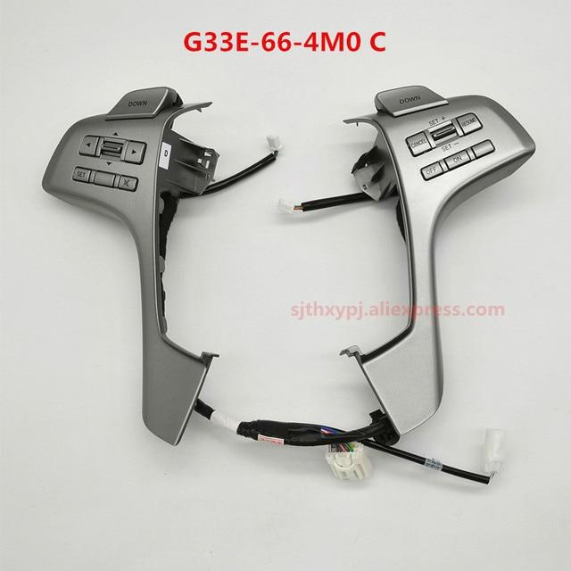 For Mazda 6 GH Mazda 6 steering wheel control button Shift pick Cruise control audio volume control switch G33E 66 4M0C
