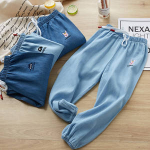 kids Casual Children Pants Summer Fashion Baby Soft Cotton Denim Pants Kids Sports For Boys Girls