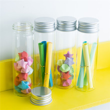 15ml 25ml 40ml 50ml 60ml Glass Bottles Jewelry Packing Cute Aluminium Lid Empty Ornament Jars Containers 12pcs