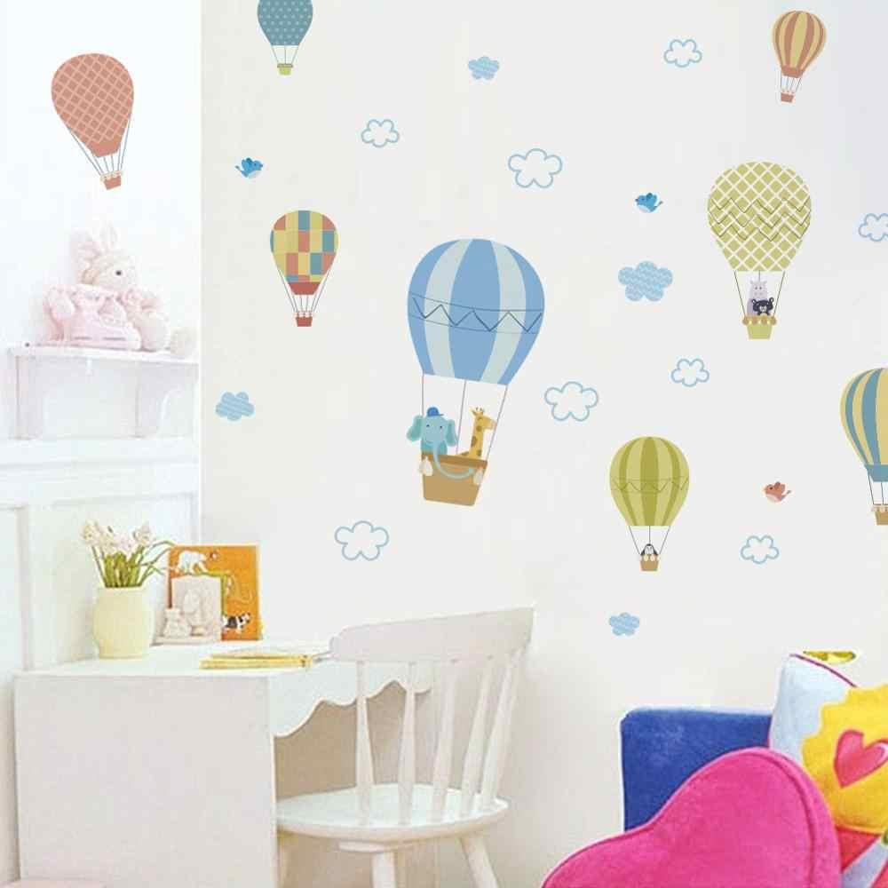 Biała chmura gorące powietrze ściana z balonami naklejka dziecięca sypialnia dziecięca tapeta dekoracyjna mural dekoracja wnętrz wymienne naklejki